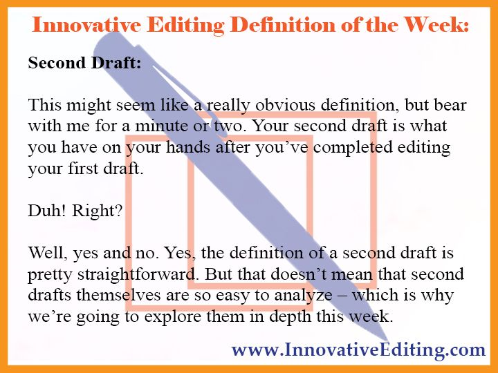 drafting definition in writing
