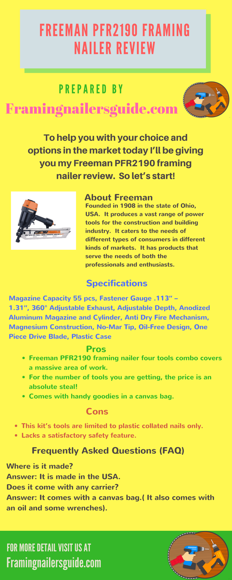 Freeman PFR2190 Framing Nailer Review   Buzz   Pinterest   Giveaway ...