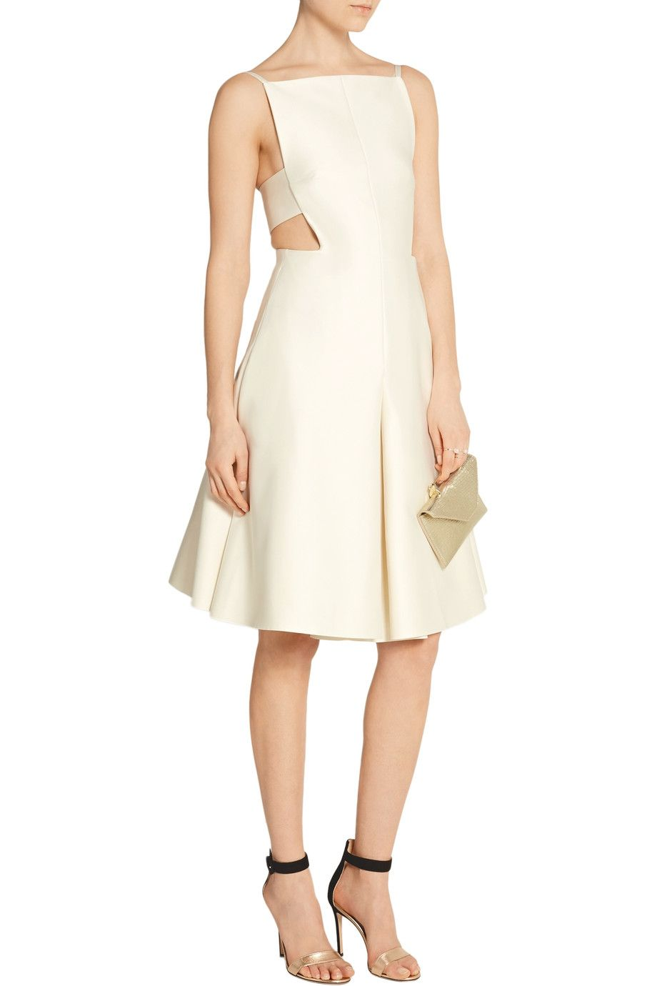 Solace London Ava cutout satin-crepe dress | THE OUTNET