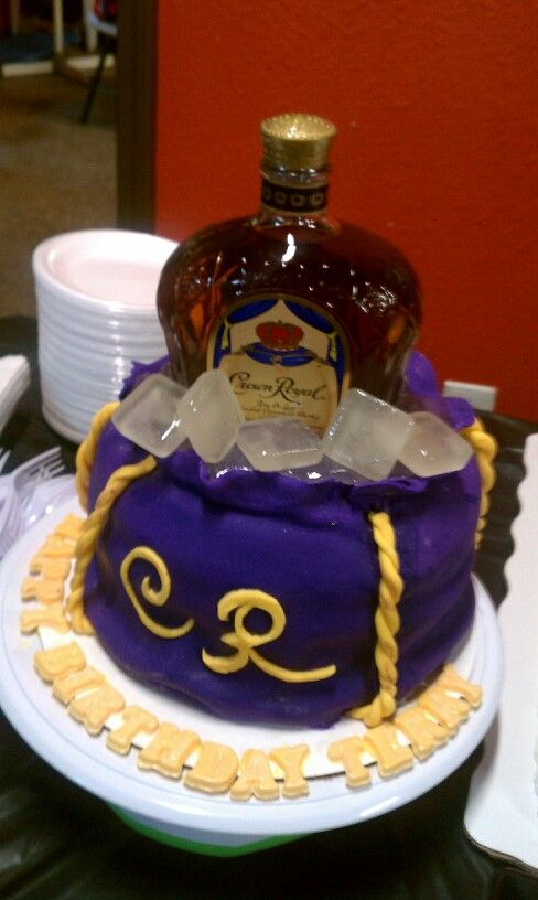 Close Up Of A Crown Royal Cake I Made For A Client YesI Made Ice Cube Im Eeally Proud Of