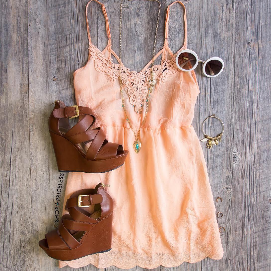 This Summer Dress - Peach