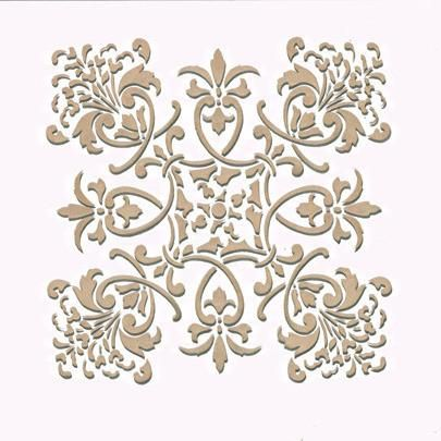 Create A Fabric Design Or Kitchen Backsplash With Our Florence Tile Craft Stencil