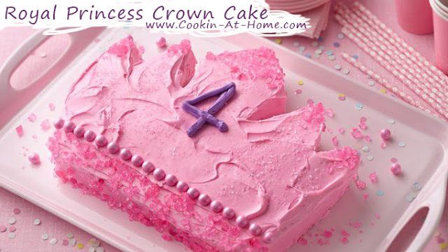Royal Princess Crown Cake | Cooking at Home