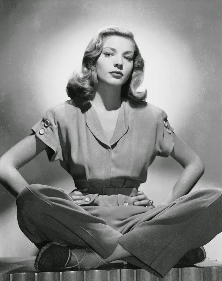 Lauren Bacall wearing espadrilles (1950s)