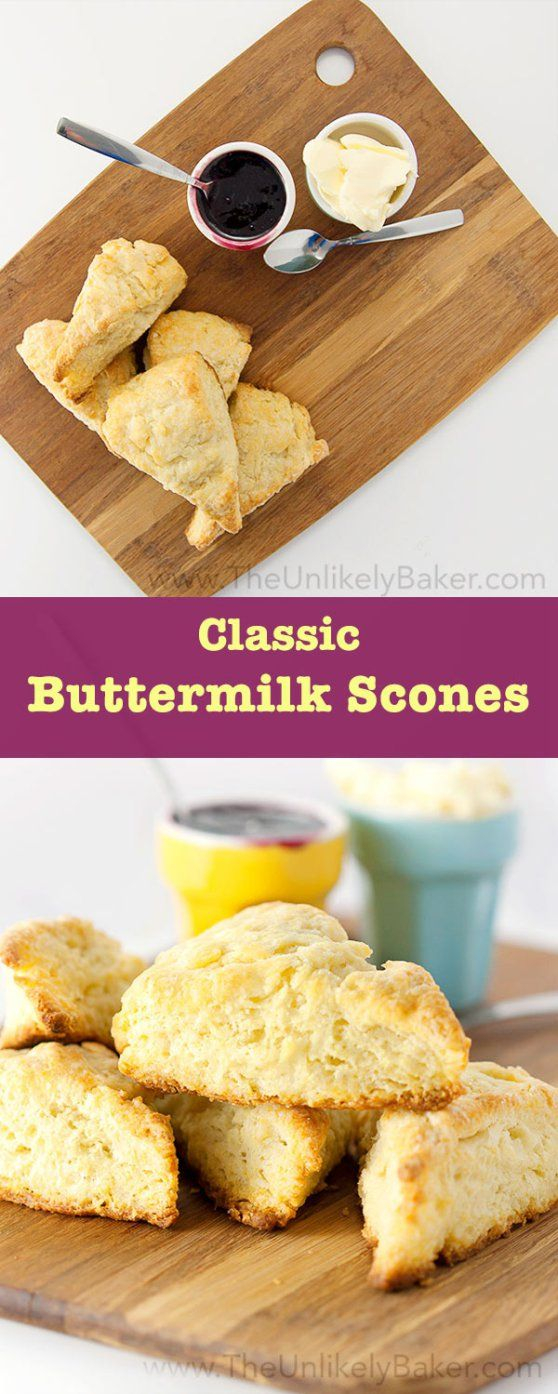 Classic Buttermilk Scones The Unlikely Baker Buttermilk Recipes Buttermilk Scone Recipe Scones Easy