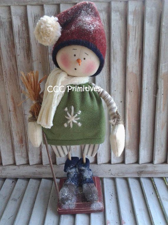 Primitive Pattern  Primitive Snowman Leo von CCCPrimitives auf Etsy