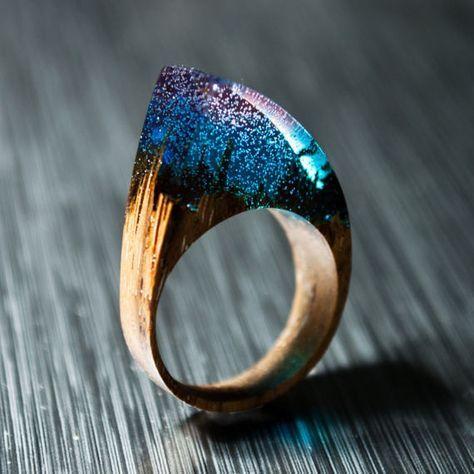 Photo of Geschenk für Frau Harzringe Geschenk für ihren Holzring Statement Ring Holzschmuck Einzigartiges Geschenk Geburtstagsgeschenk Kleidungsgeschenk Holzring Boho Ring