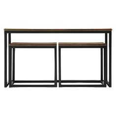 Palmer Nesting Console Table Set In Bali Brown Console Table