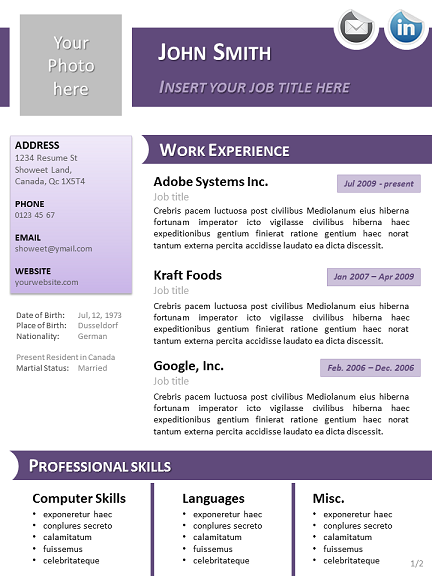 Click on a thumbnail to access the full cv and download it for free and. Resume Templates Libreoffice Resume Templates Downloadable Resume Template Resume Templates Openoffice Templates