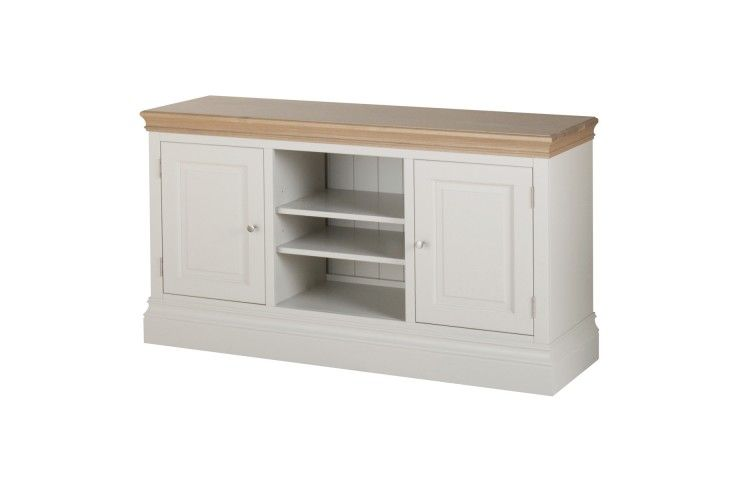 Painted Solid Pine 2 Door Tvunit Tv Stand Wood Tv Unit Solid Pine