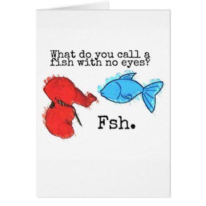 Fishing Jeffrey Elefant 233 Fish Joke 2 Greeting Card Fishing Jokes Wedding Signs Red Wedding