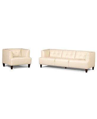 Alessia Leather Sofa And Chair I Would Get Grey Or Brown