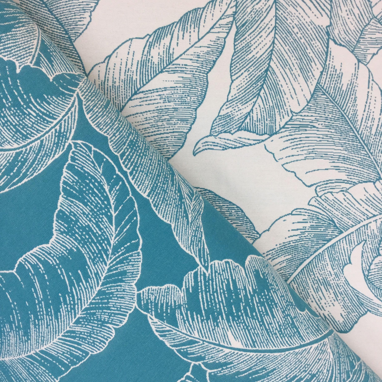 Teal Blue Palm Shopmyfabrics Tropical Upholstery Fabric Upholstery Fabric Coastal Fabric