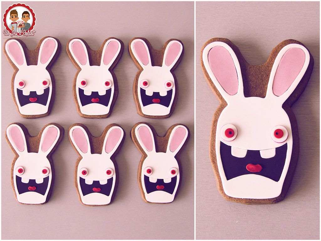 Biscuits lapins cr tins raving rabbids cookies un jeu - Gateau lapin cretin ...