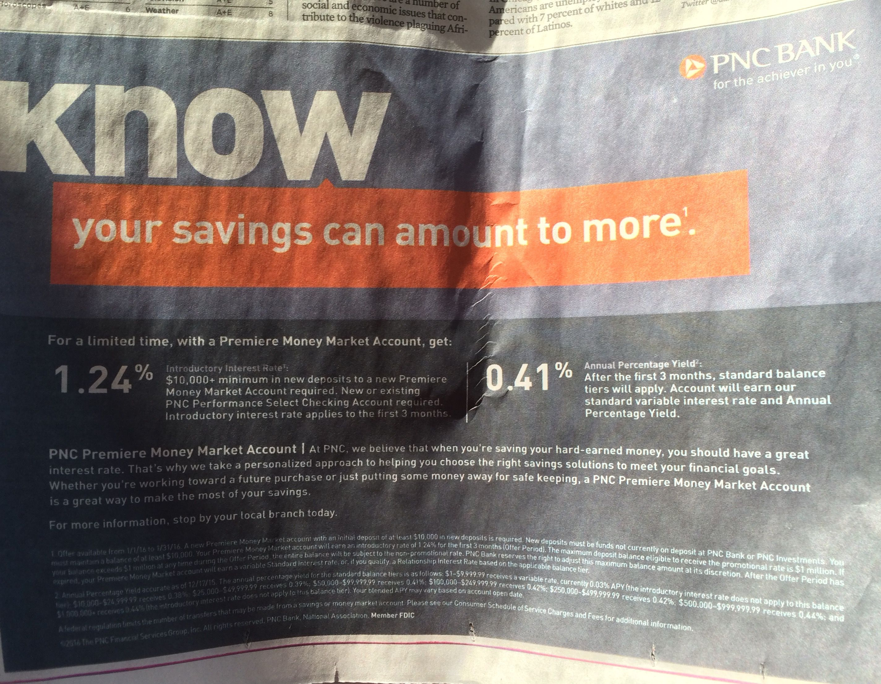 PNC Bank touts money-market account w/ introductory rate of