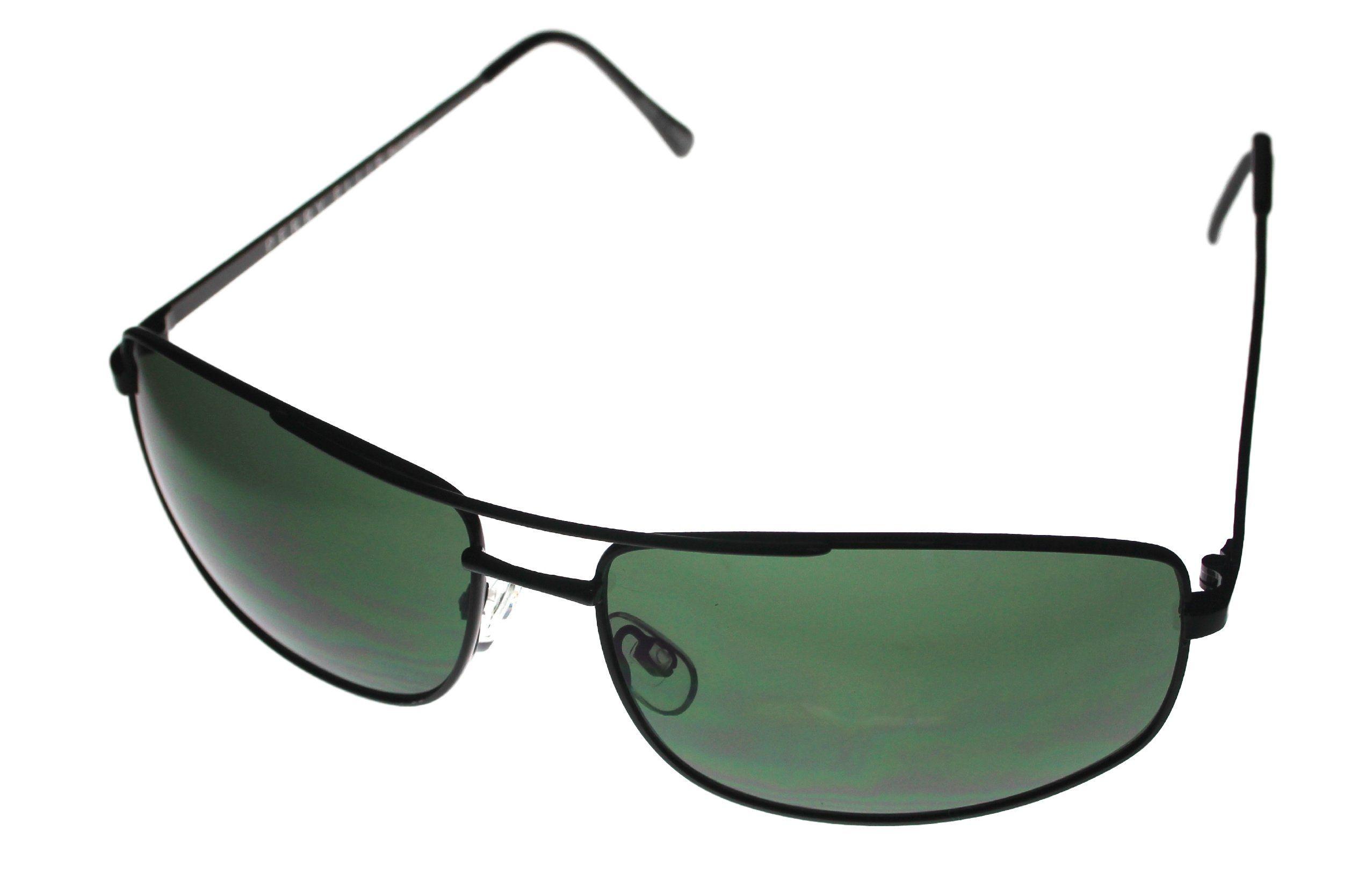 b5cb2b4a482 Perry Ellis Mens Sunglasses Black Metal Rectangle Wrap PE65 1     Visit the  image