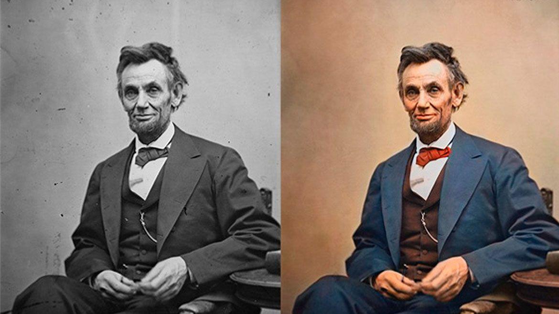 Históricas fotos en blanco y negro aparecen en color