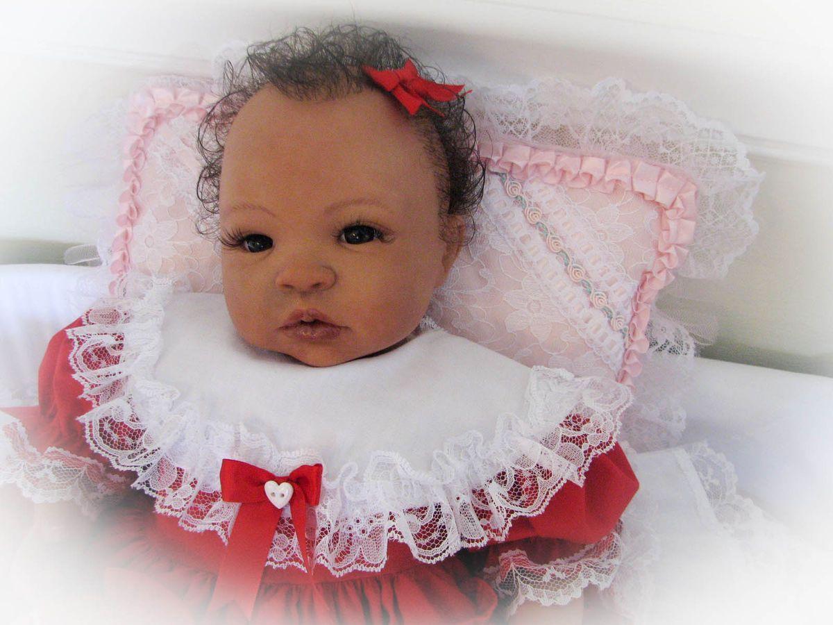 reborn baby doll sweet baby girl kiana with human hair no animal