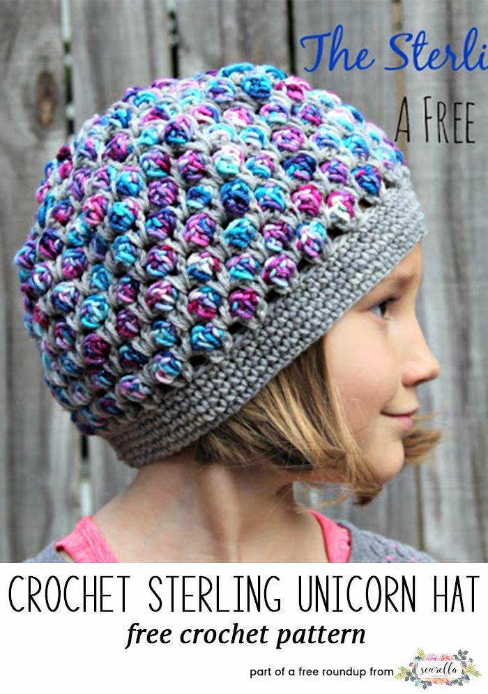 Crochet Winter Kids Hats Roundup | Gorros, Tejidos de punto y Nena