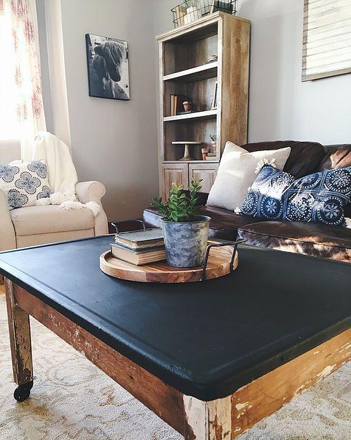 DIY coffee table. Styling shelves, living room remodel, diy pots ...