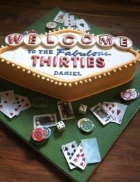 Las Vegas themed birthday cake Dannys Birthday Pinterest