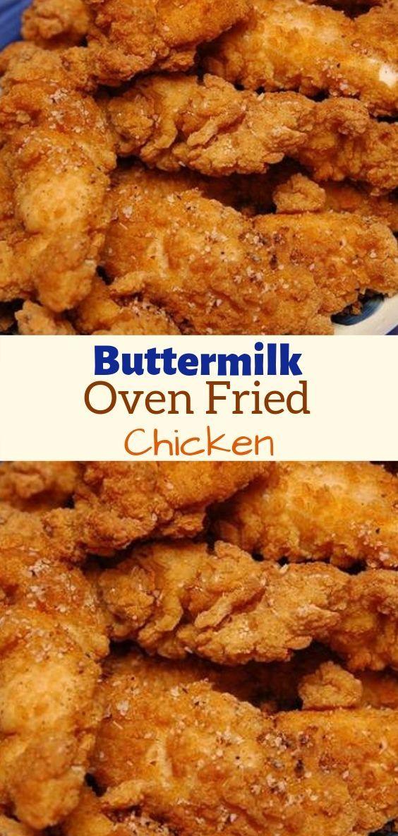 Buttermilk Oven Fried Chicken   Buttermilk oven fried ...