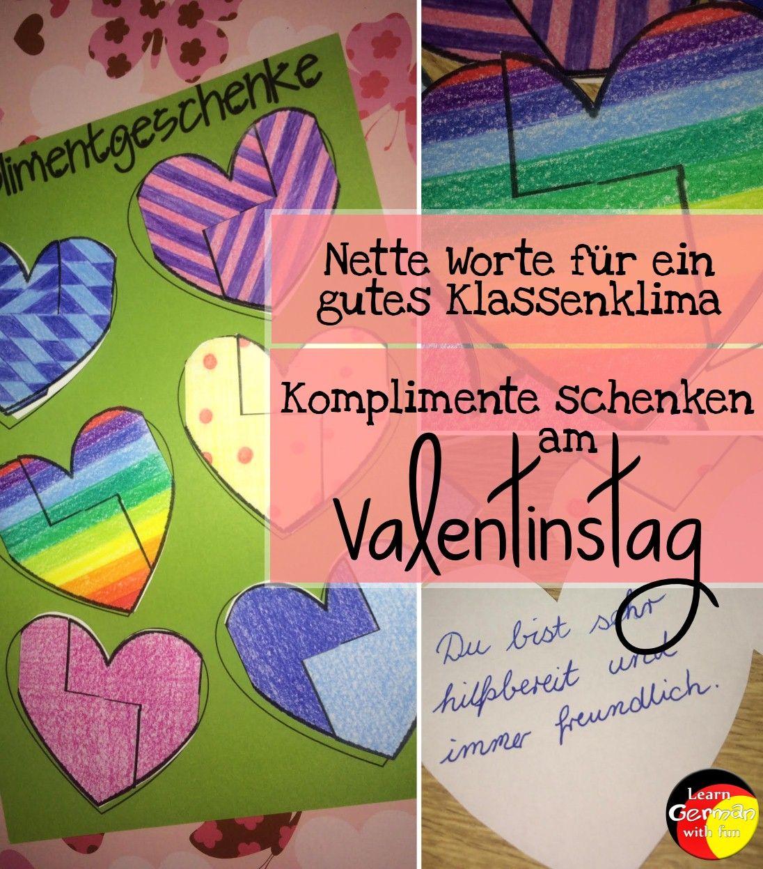 Bastelanleitung für Valentinstag. Aktion für die Grundschule ...