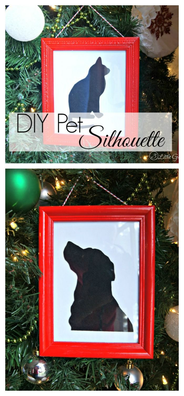Pet Silhouette Gift For The Holidays Holiday Favorite
