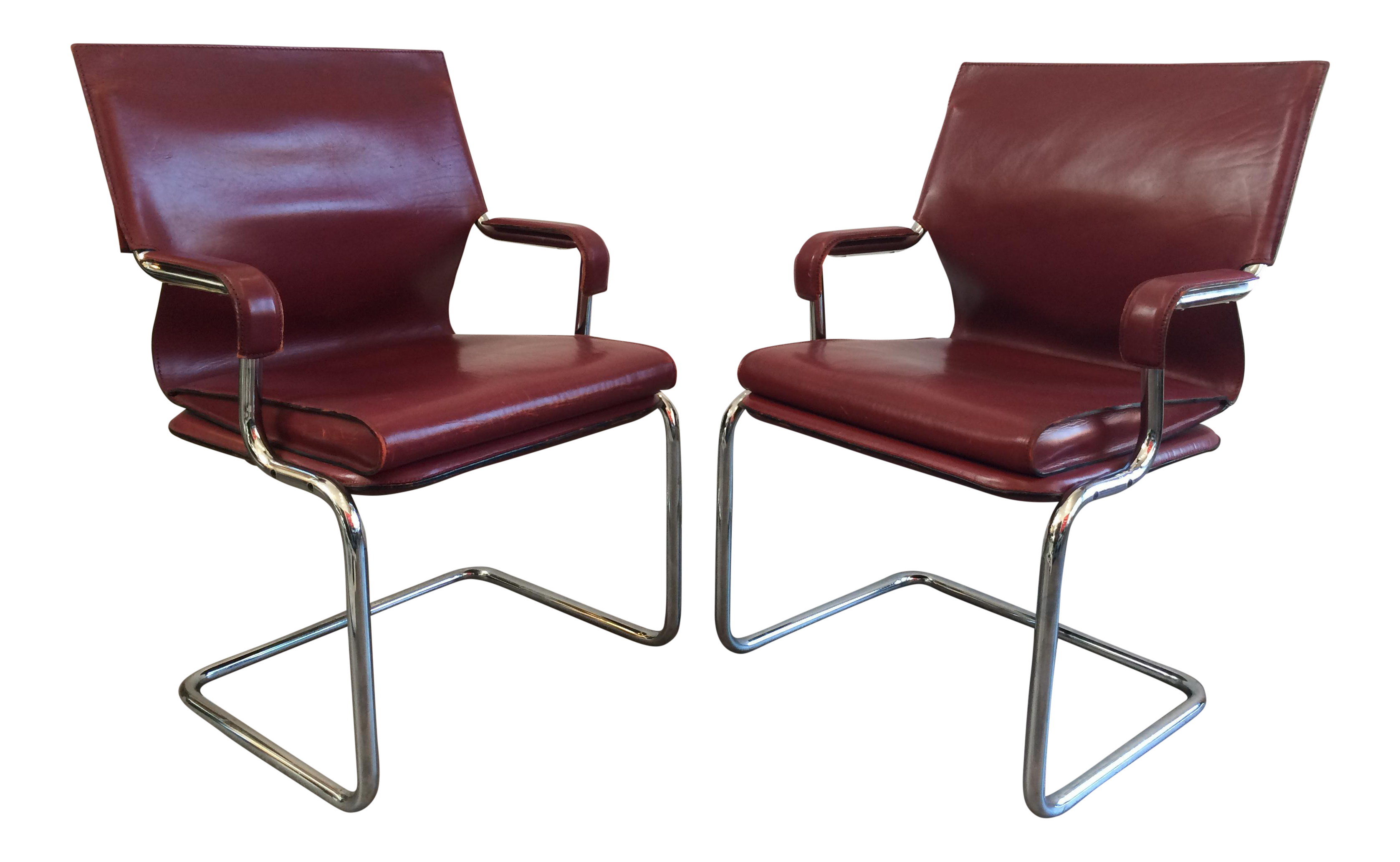 Strange Marcatre Red Leather Chrome Uno Chairs Diana I Office Gmtry Best Dining Table And Chair Ideas Images Gmtryco