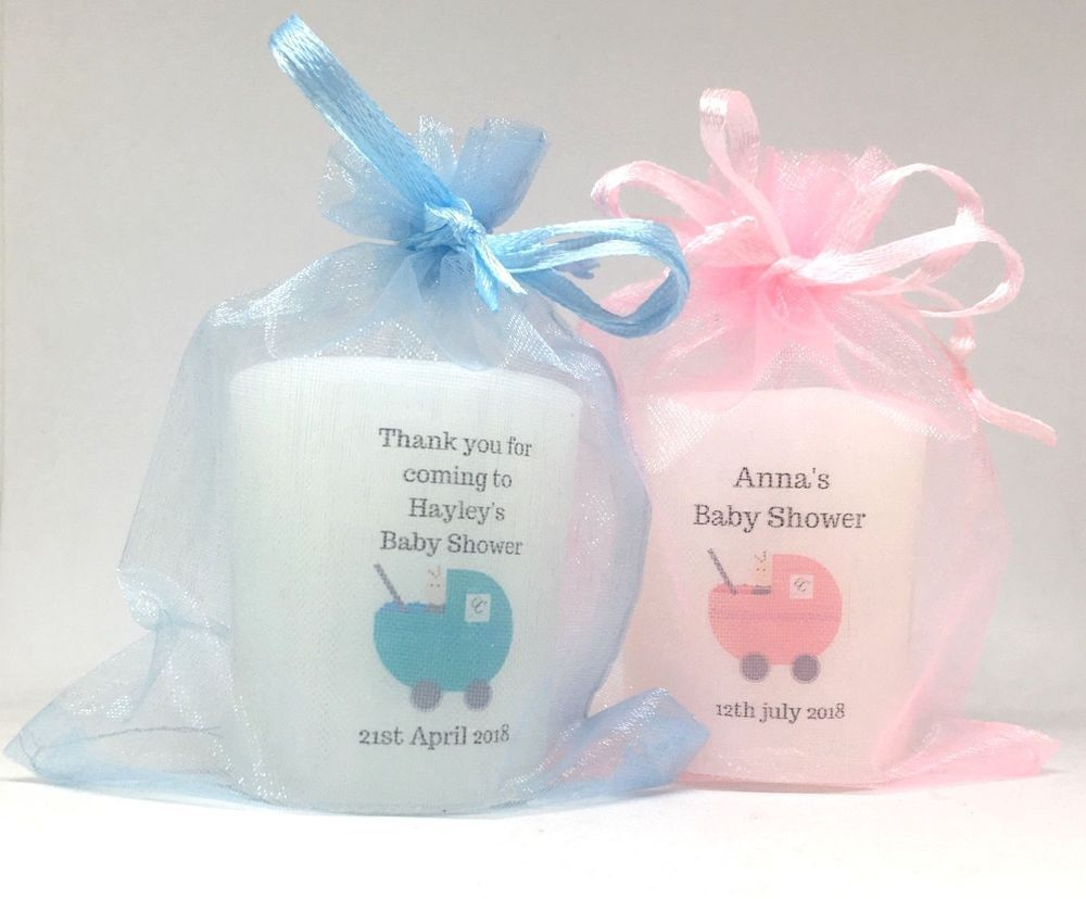 Details about personalised baby shower candles favours