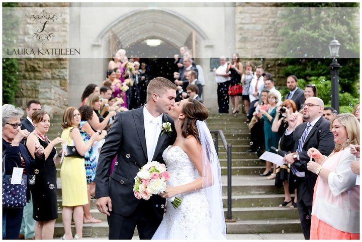 A Westmont Presbyterian Church Oakwood Restaurant Wedding In Johnstown Pa Ryan Brenna Tie The Knot Restaurant Wedding Wedding Wedding Dresses