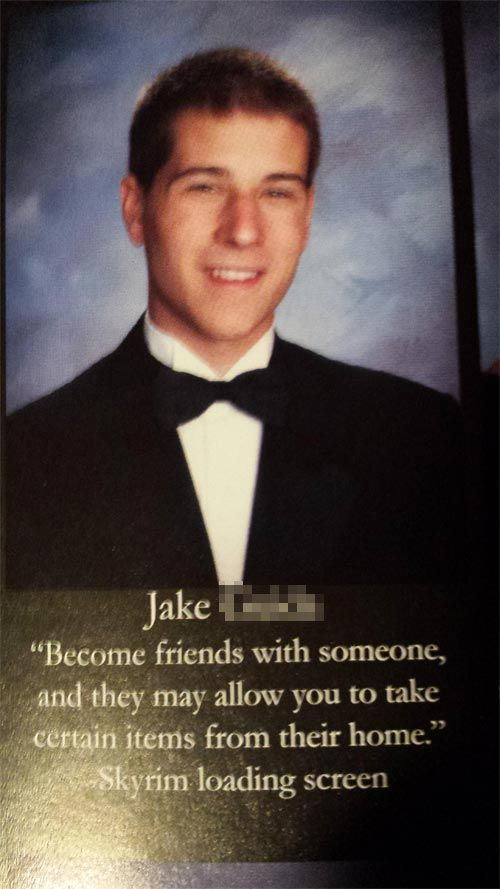 High School Senior Quotes Funny Yearbook Quote  Hilarious  Pinterest  Funny Yearbook Quotes