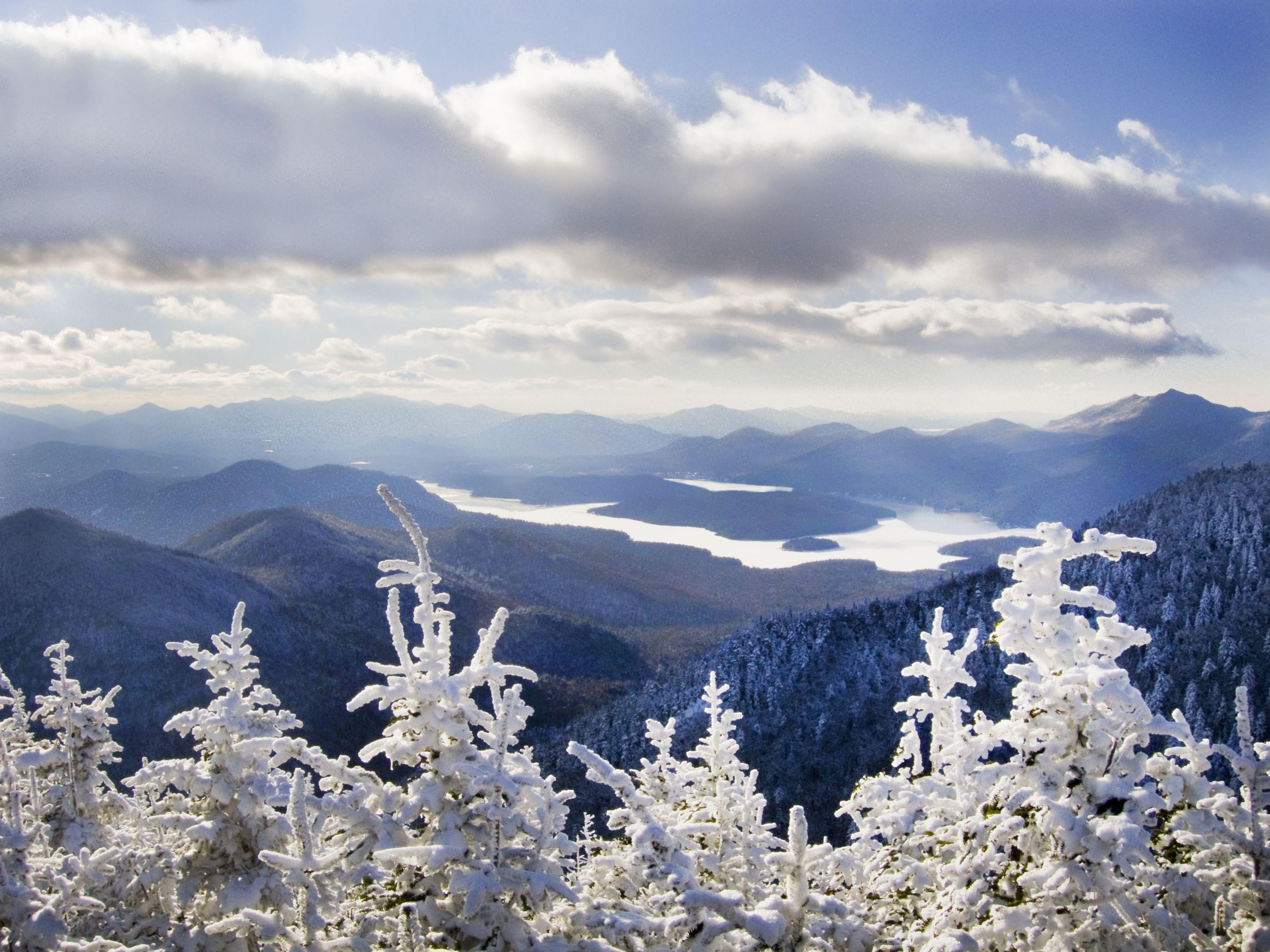 Lake Placid sparkles in the winter. Lake placid hotels