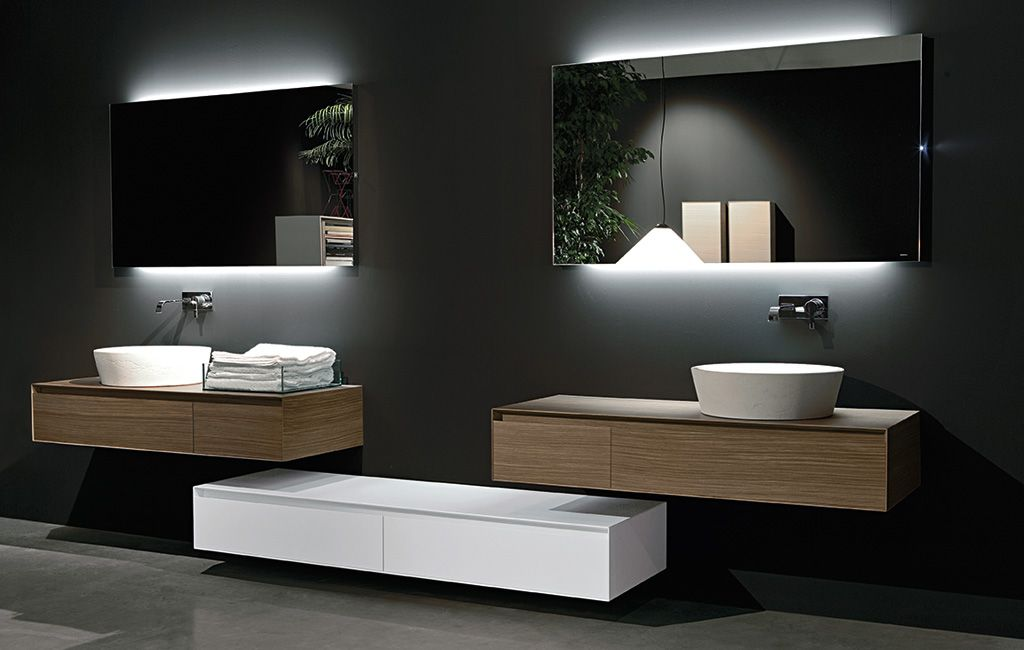 Mirrors Sinks Cabinets Bathroom Mirror Backlit Modern Style