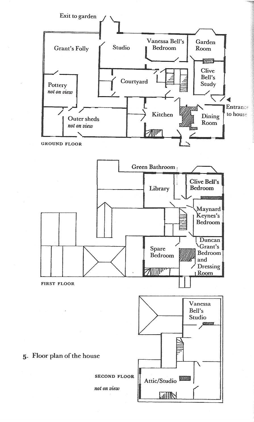 Floor Plan Of House From Charleston Past Present Bloomsbury Group House Floor Plans East Sussex