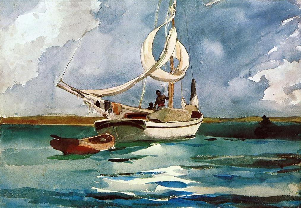 Winslow Homer Sloop Bermuda In 2020 Winslow Homer Paintings