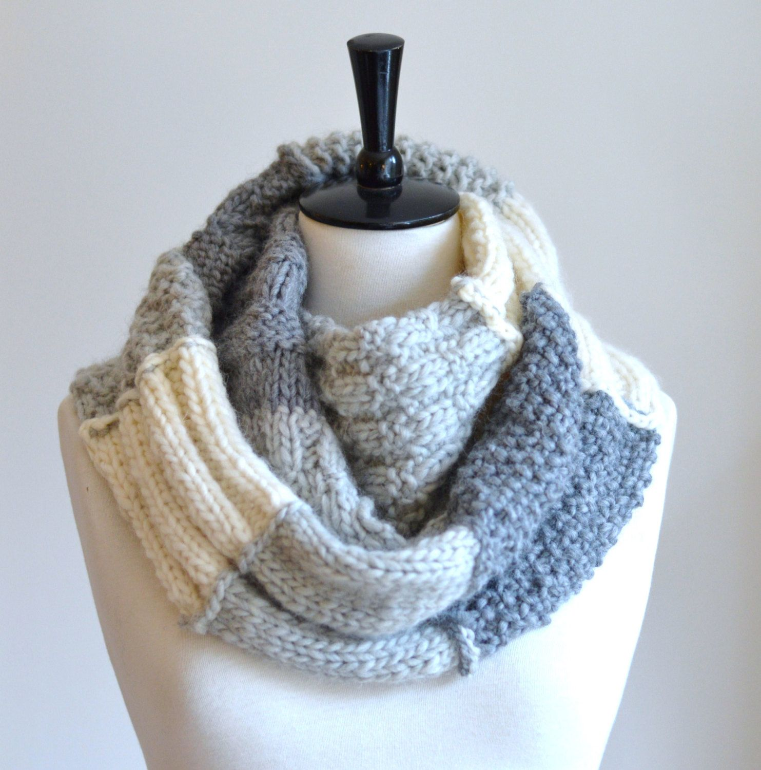 Knitting A Scarf Quickly : Knitting pattern infinity scarf sampler