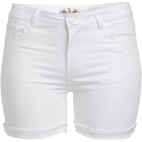 JZ JEANS White High-Waist Twill Shorts (230 MXN) ❤ liked on ...