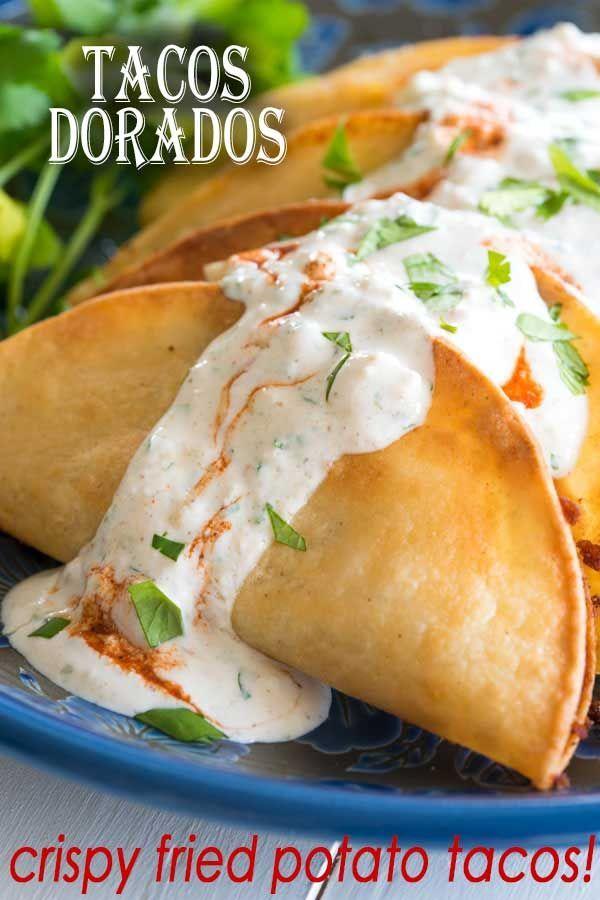 Photo of Tacos Dorados de papa (fried potato tacos) | Kitchen Gidget