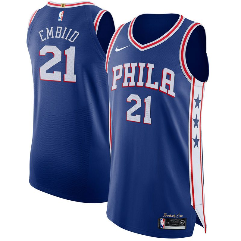 066a5a73333 Joel Embiid Philadelphia 76ers Nike Authentic Jersey Blue - Icon Edition