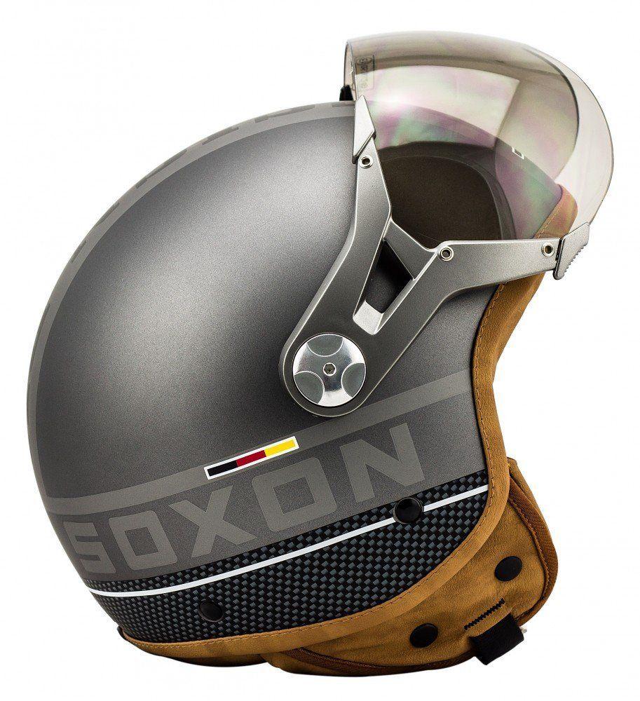 soxon sp 325 plus titanium helmet jet helm roller helm. Black Bedroom Furniture Sets. Home Design Ideas
