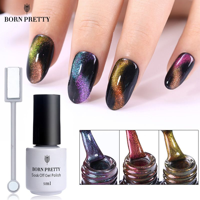 3d Cat Eye Nail Polish Magnetic Aurora Series Magic Stick Gradient 10ml Varnish Nail Art Lucky Lacquer Semi Permanent Nails Art & Tools Beauty & Health