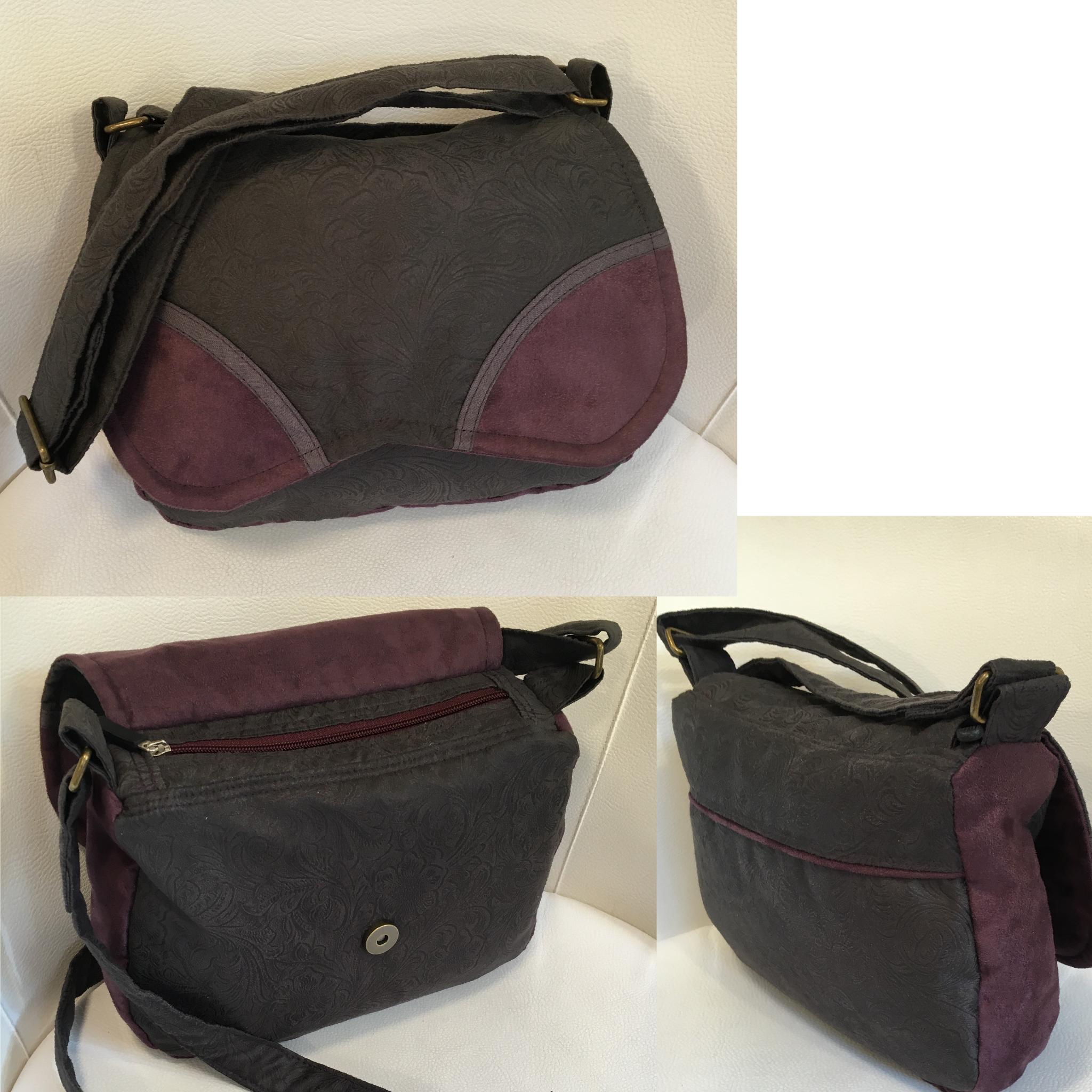Handtasche aus Veloursleder Schnittmuster: Liselotte/allerlieblichst ...