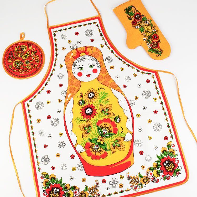 russian doll apron set cute kitchen www therussianstore com rh pinterest com