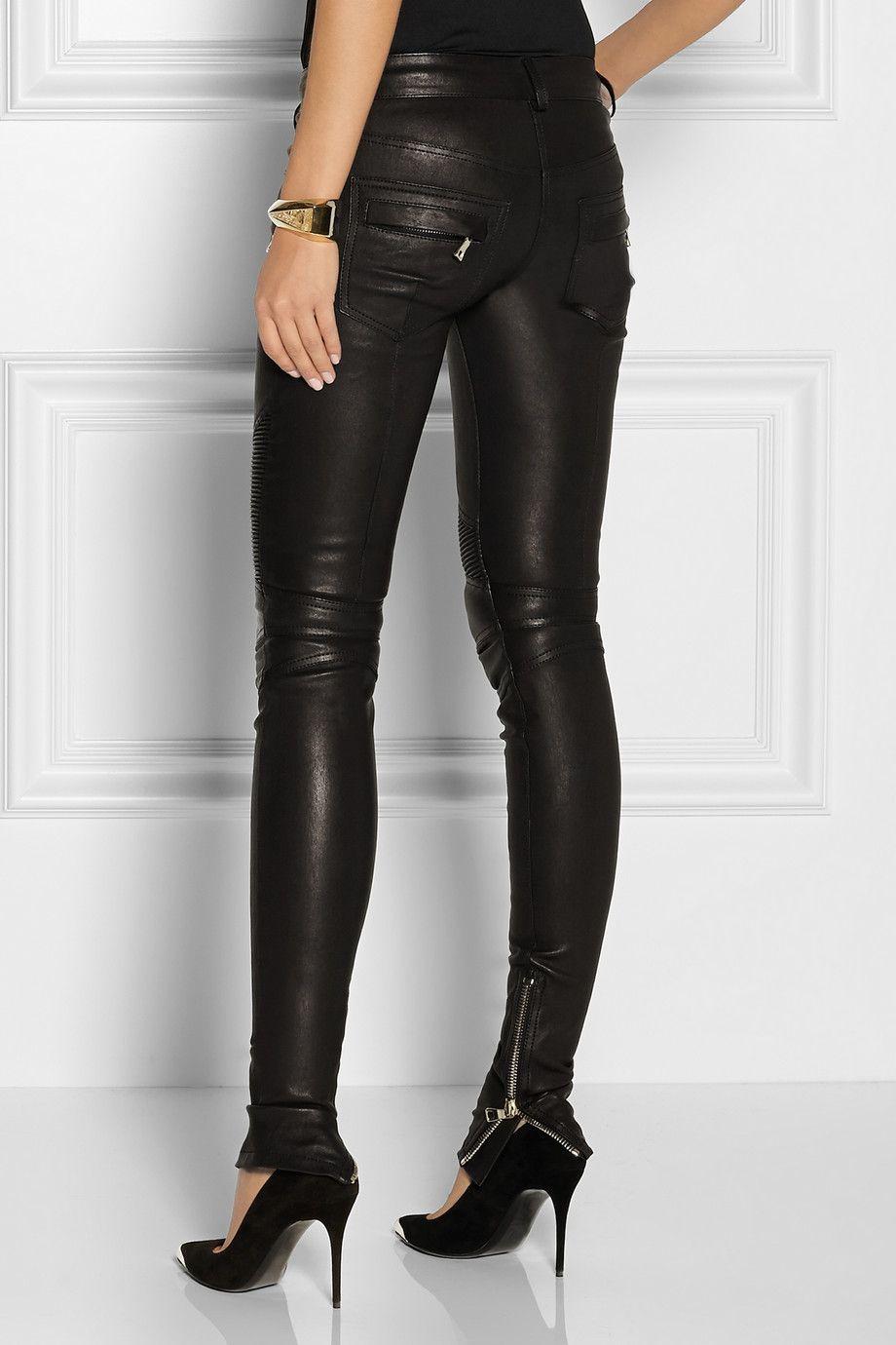 ea3e30ea00c Balmain   Leather motocross-style skinny pants   NET-A-PORTER.COM ...