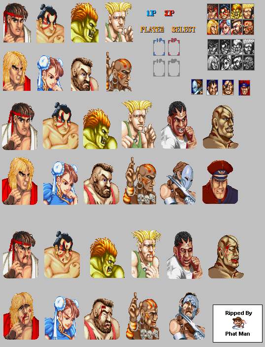 Player Select Street Fighter 2 Quadrinhos E Desenhos Animados