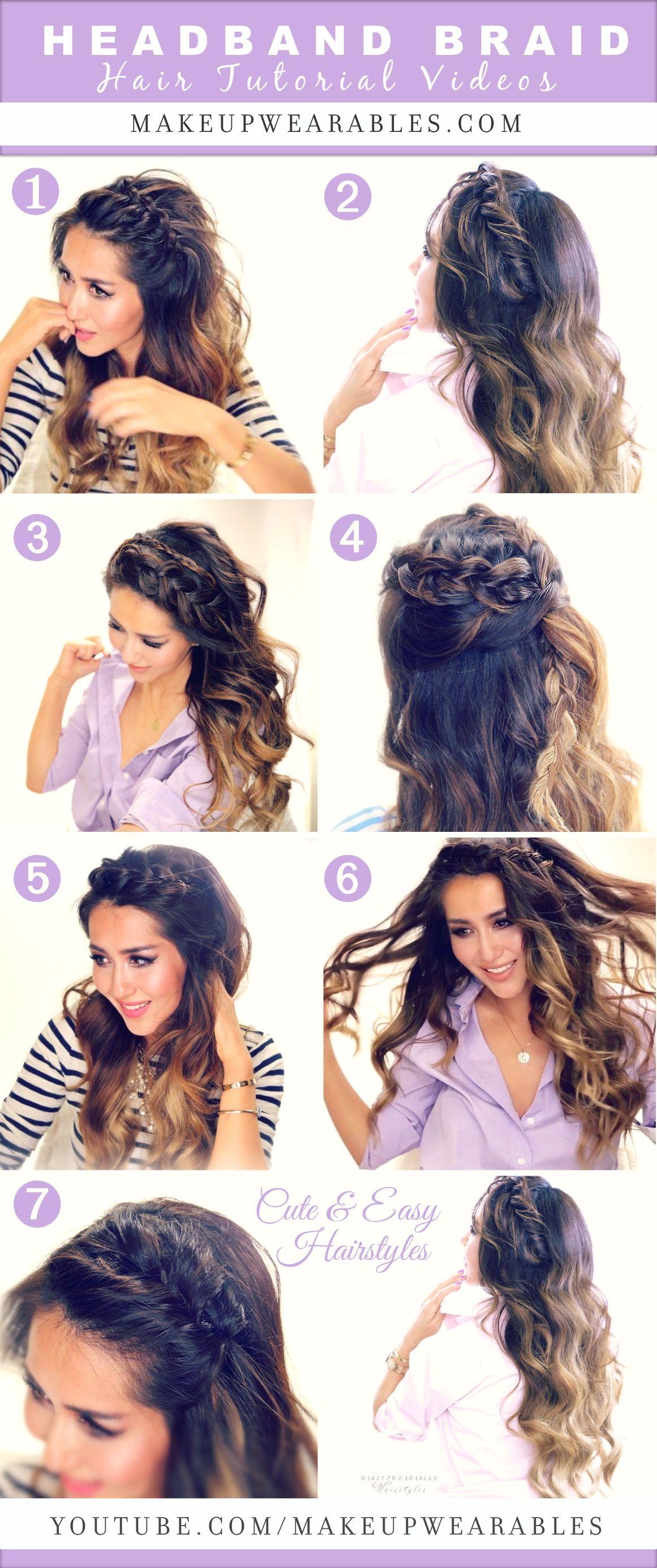 cute u easy headband braid hairstyles to try in hair
