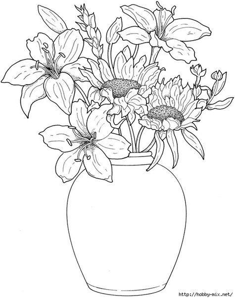 Shablony Konturnye Uzory Dlya Vyshiv Flores Para Colorir Paginas Para Colorir Para Adultos Coisas Para Desenhar