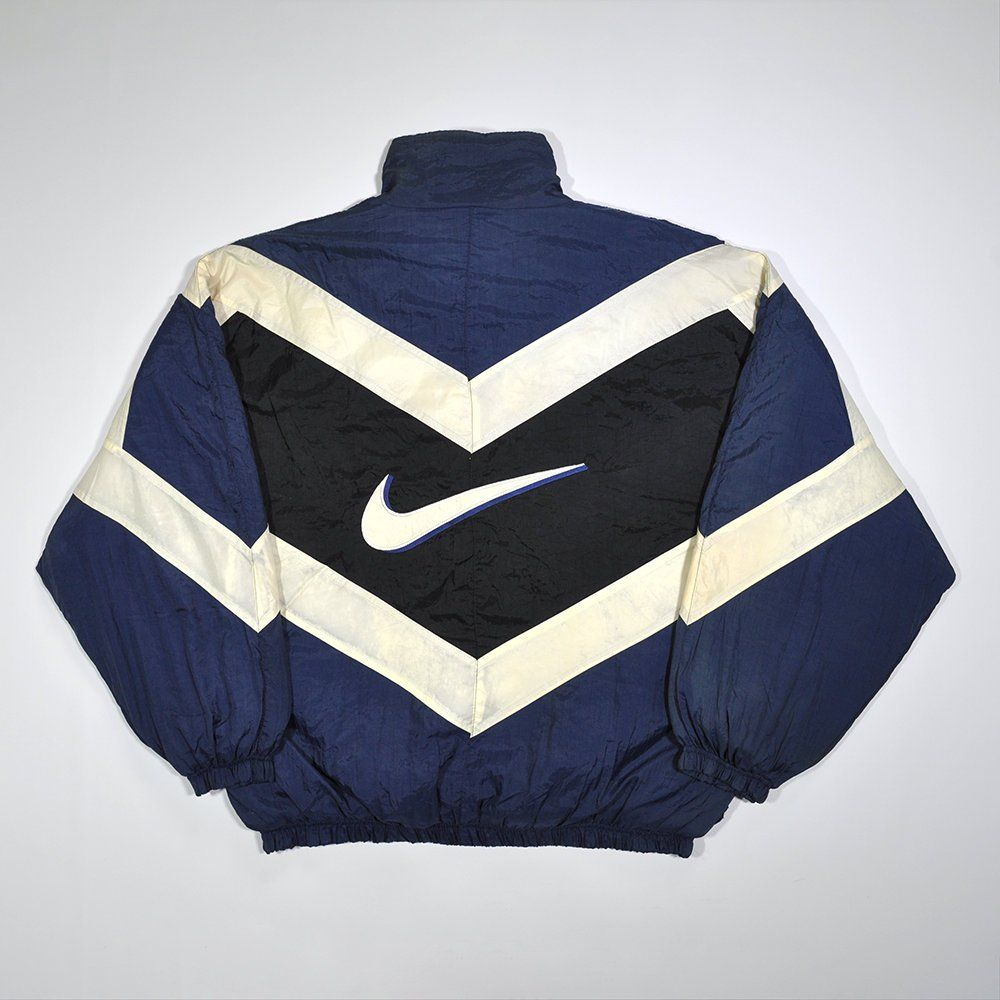 Rare Vintage 80s 90s Nike Mid Puffer Puff Bomber Windbreaker Shell Spray Jacket Nike Big Logo Retro Old School Running Casual Track Jacket Bomber Jacket Vintage Nike Puffer Jacket Outfit [ 1000 x 1000 Pixel ]