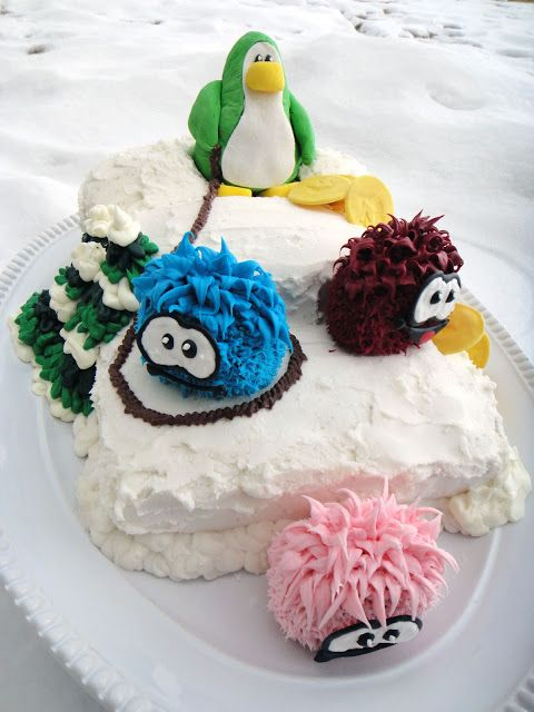 Club Penguin Cake step by step